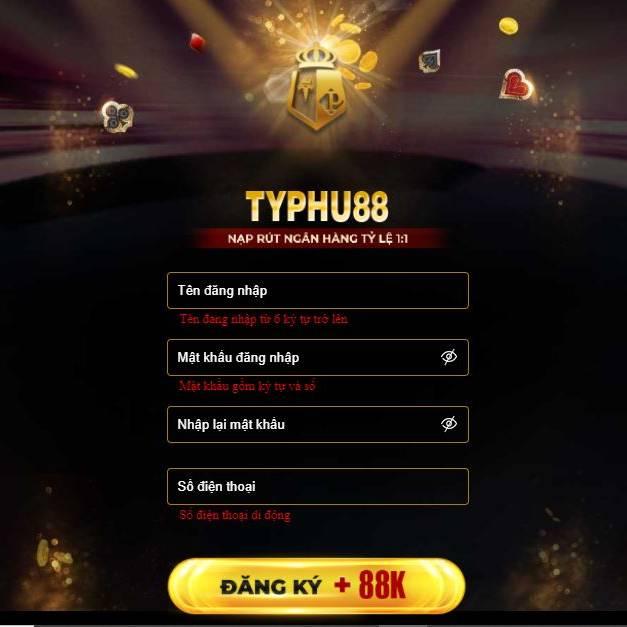 đăng ký typhu88 mobile
